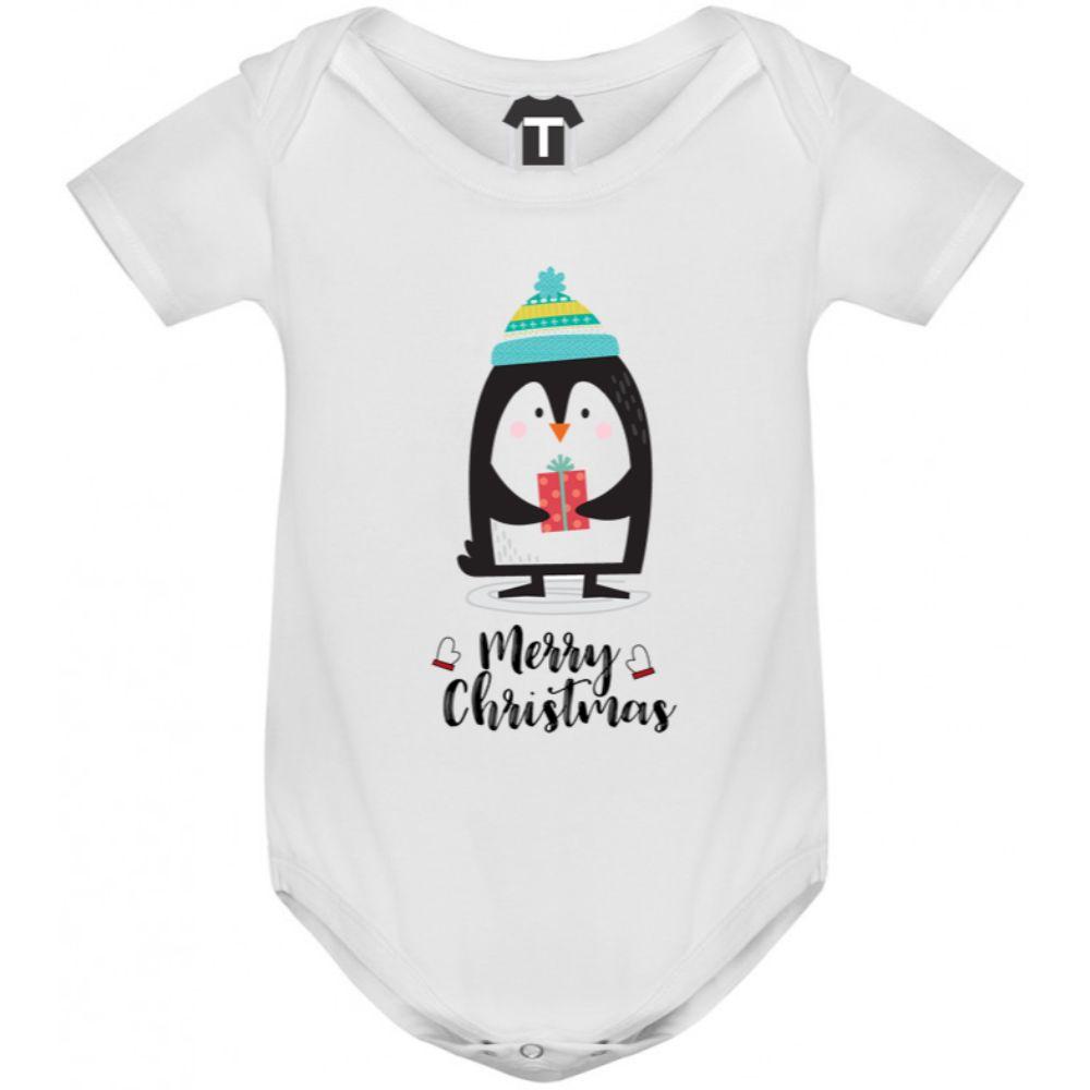 Бебешко боди Merry Christmas Penguin Boy