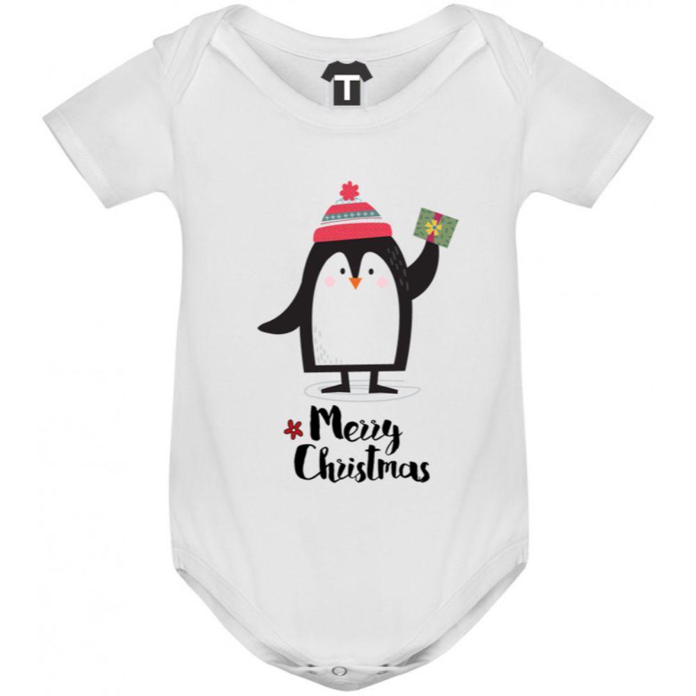 Бебешко боди Merry Christmas Penguin Girl