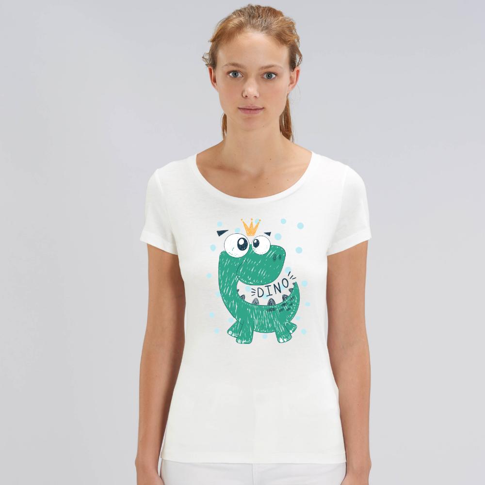 Дамска бяла тениска от органичен памук Dino