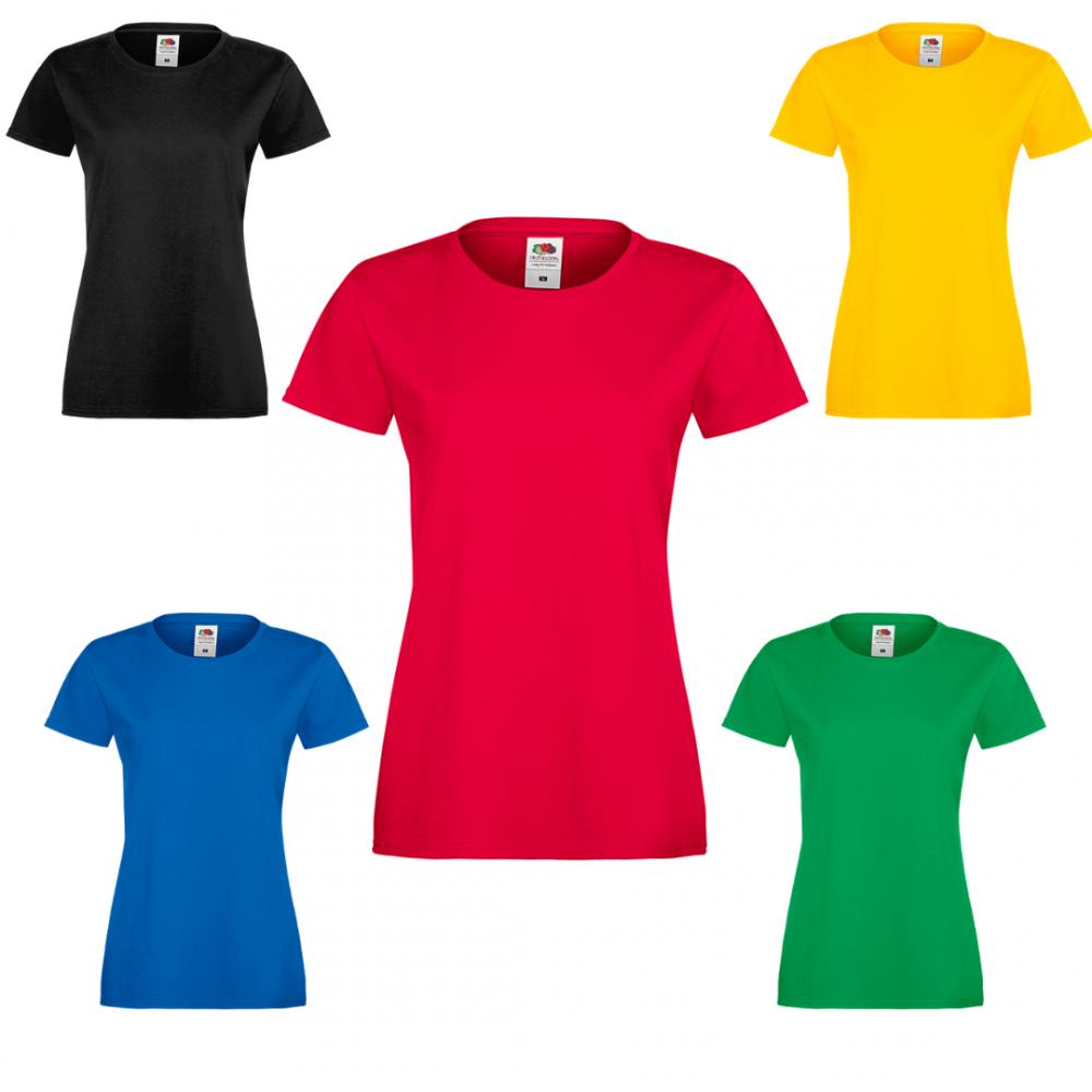 Комплект 5 дамски тениски от 100% памук в различни цветове