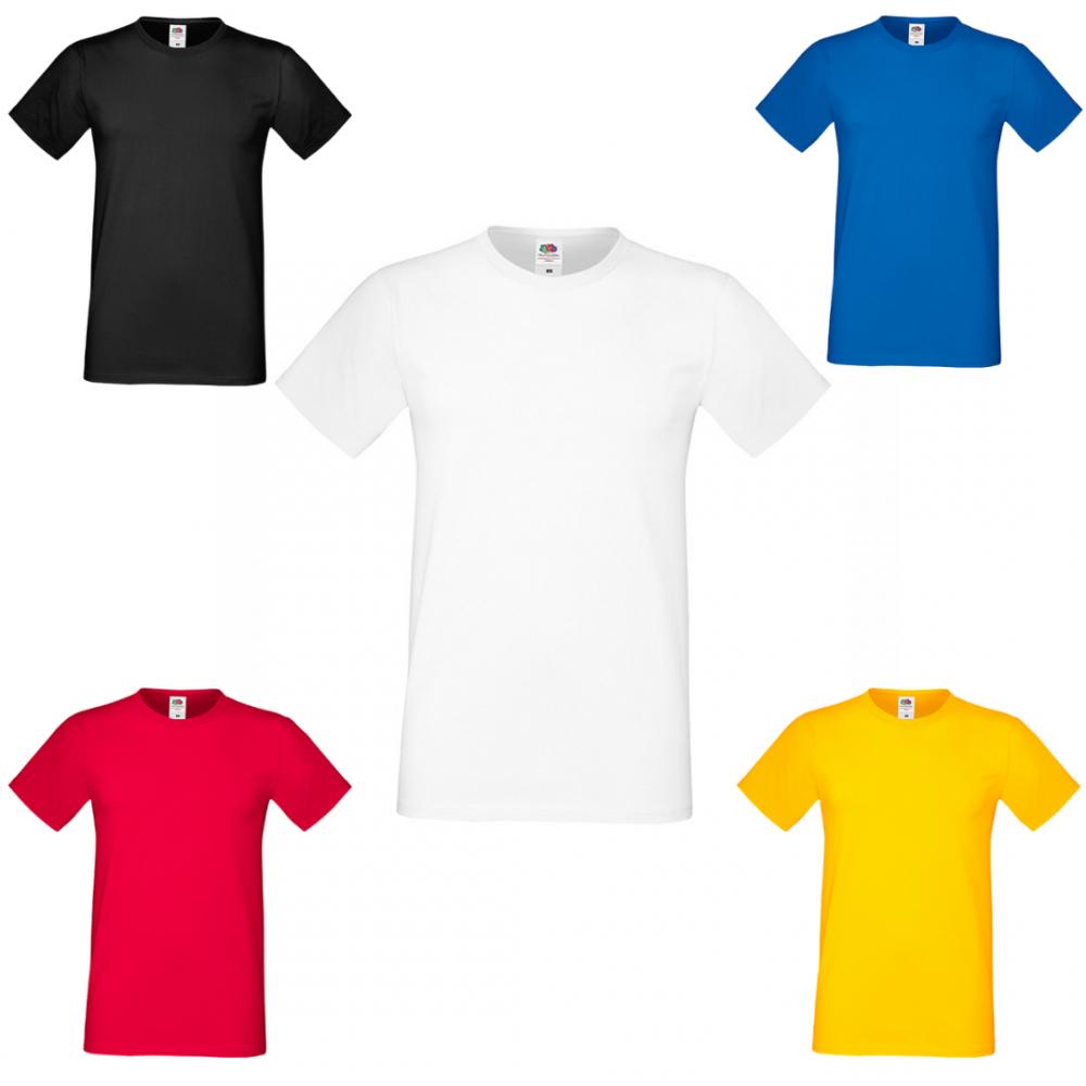Комплект 5 мъжки тениски от 100% памук в различни цветове