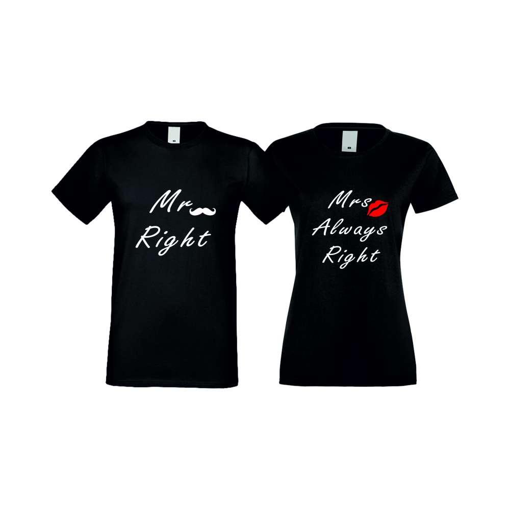 Тениски за двойки ALWAYS RIGHT 004 черни