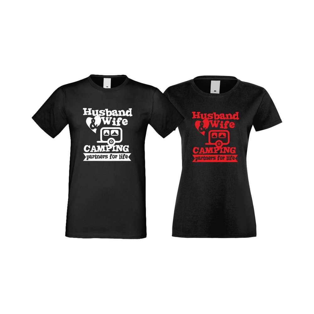 Тениски за двойки Camping Couplе черни