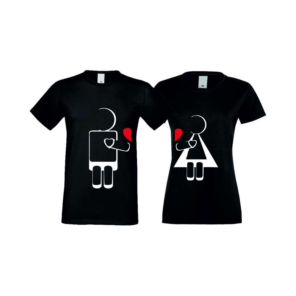 Тениски за двойки ROBOT LOVE черни