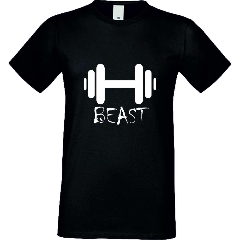 Мъжка тениска Beast черна