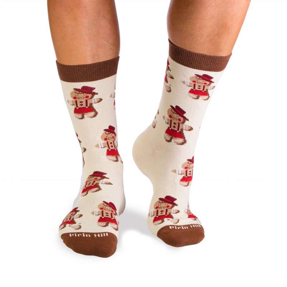 Коледни чорапи от пениран памук Christmas Boy and Christmas Tree