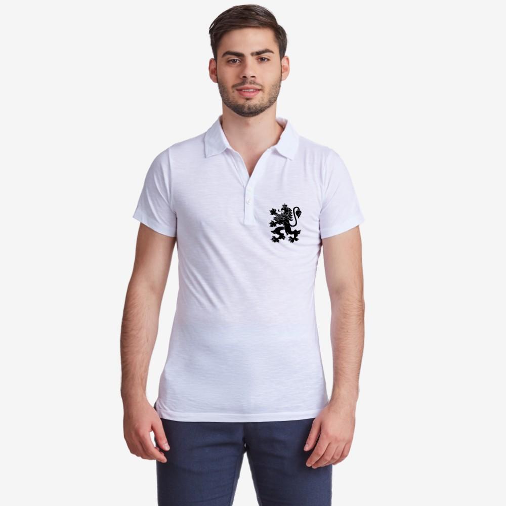 Бяла или черна поло тениска от 100% органичен памук Лъв 2
