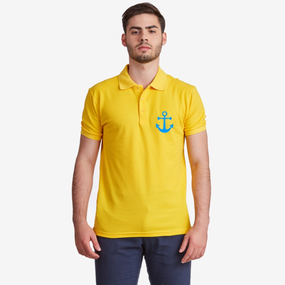 Синя или жълта поло тениска от 100% органичен памук Anchor