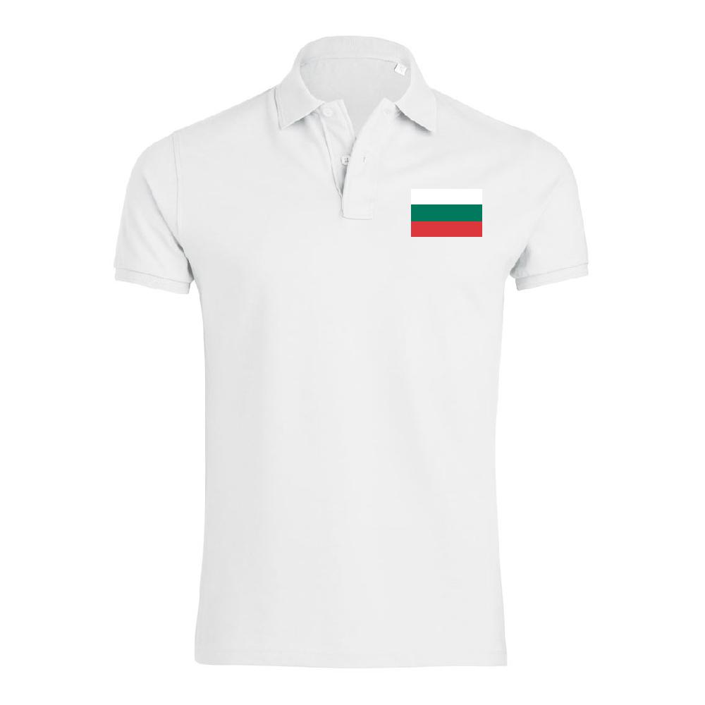 Бяла поло тениска Bulgaria