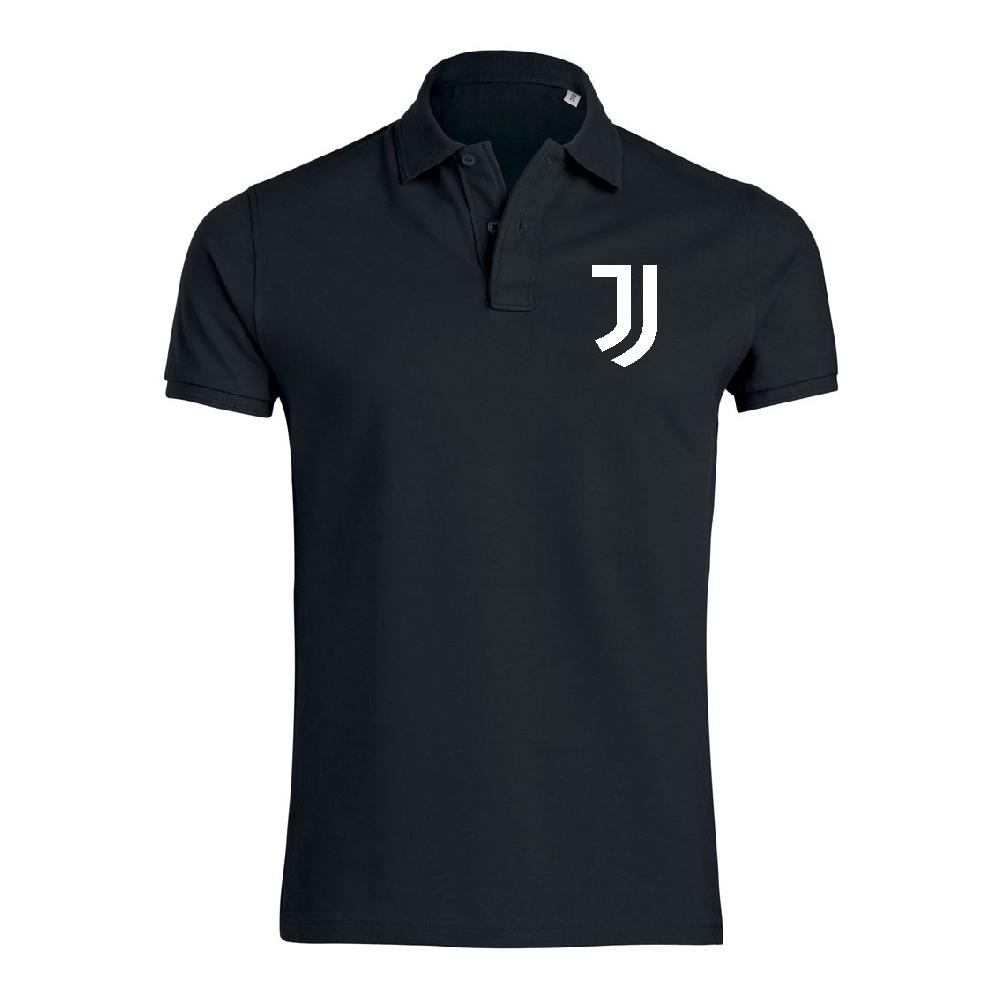 Черна Поло тениска от 100% органичен памук  Juve