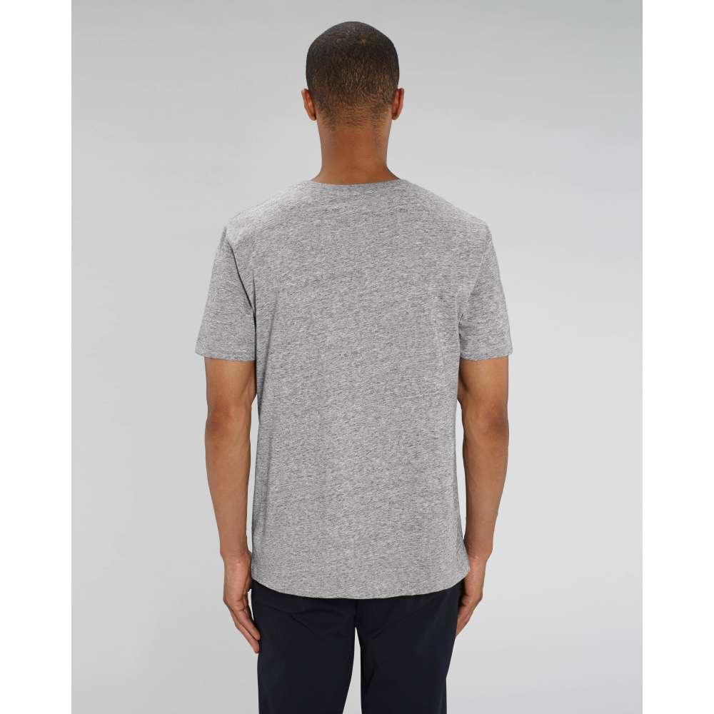 Мъжка тениска от 100% органичен памук в сива стомана