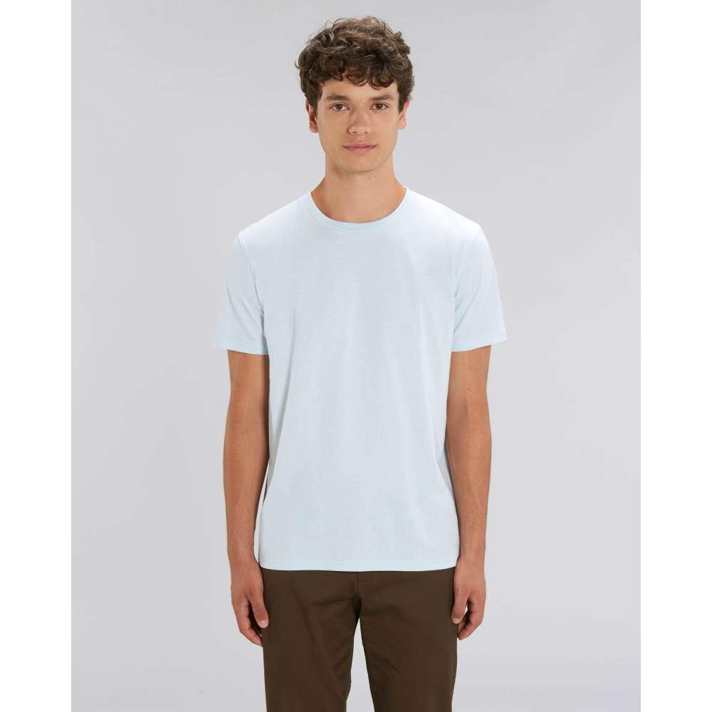 Мъжка тениска от 100% органичен памук в бебешко-син цвят