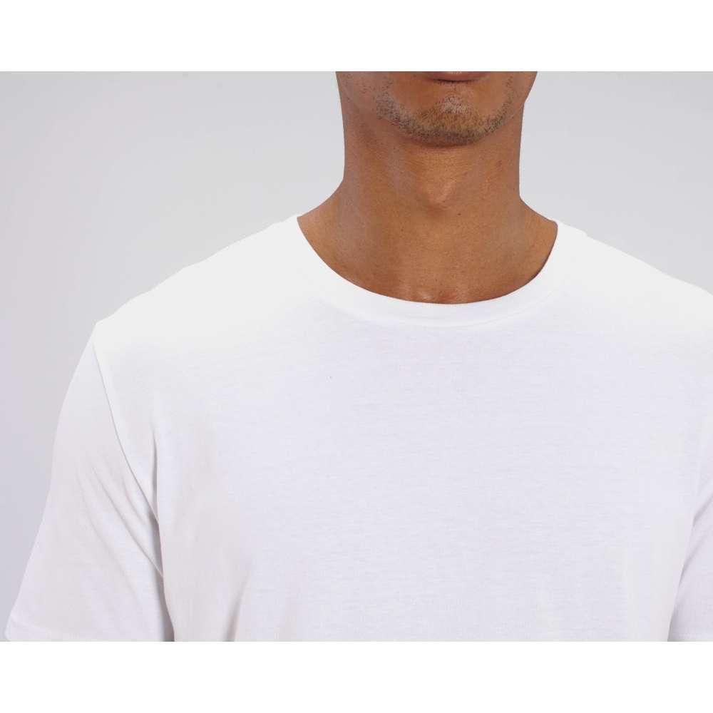 Мъжка тениска от 100% органичен памук в бял цвят