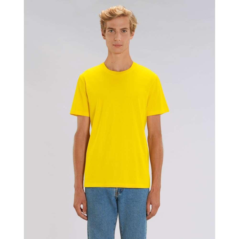 Мъжка тениска от 100% органичен памук в жълт цвят