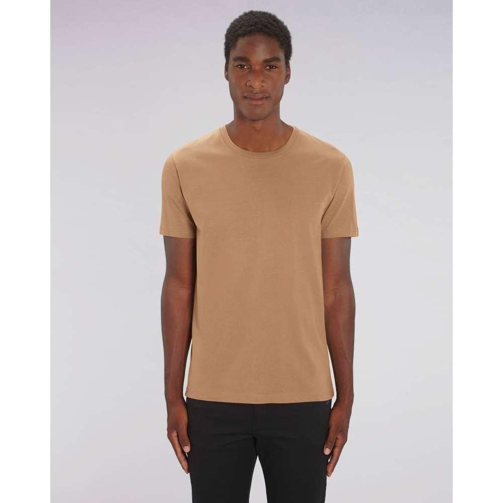 Мъжка тениска от 100% органичен памук в кафяв цвят