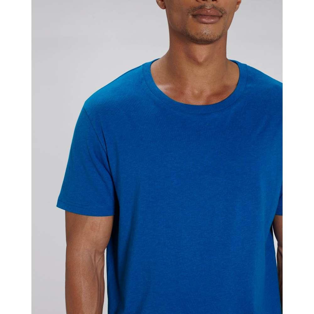 Мъжка тениска от 100% органичен памук в кралско синьо