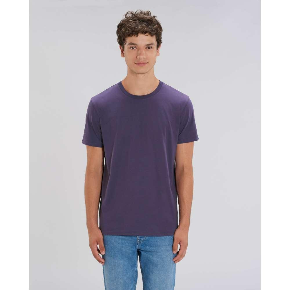 Мъжка тениска от 100% органичен памук в лилав цвят