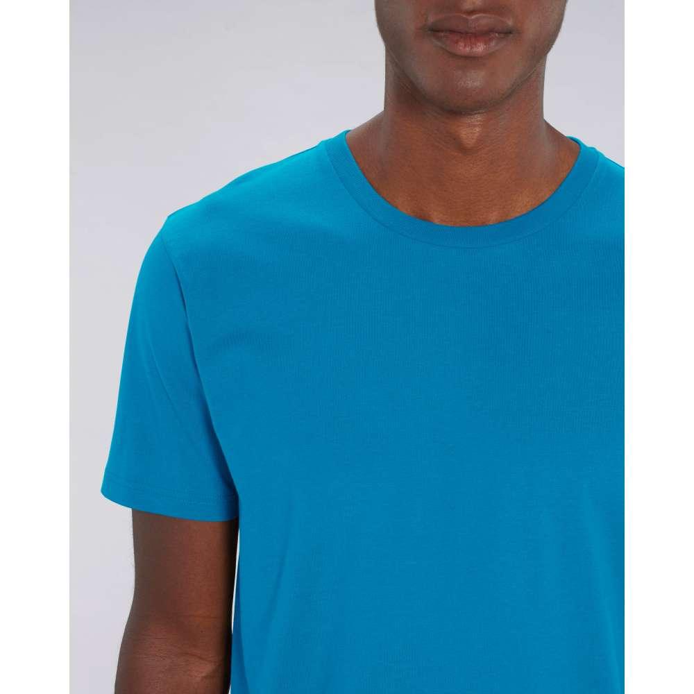 Мъжка тениска от 100% органичен памук в морско-син цвят