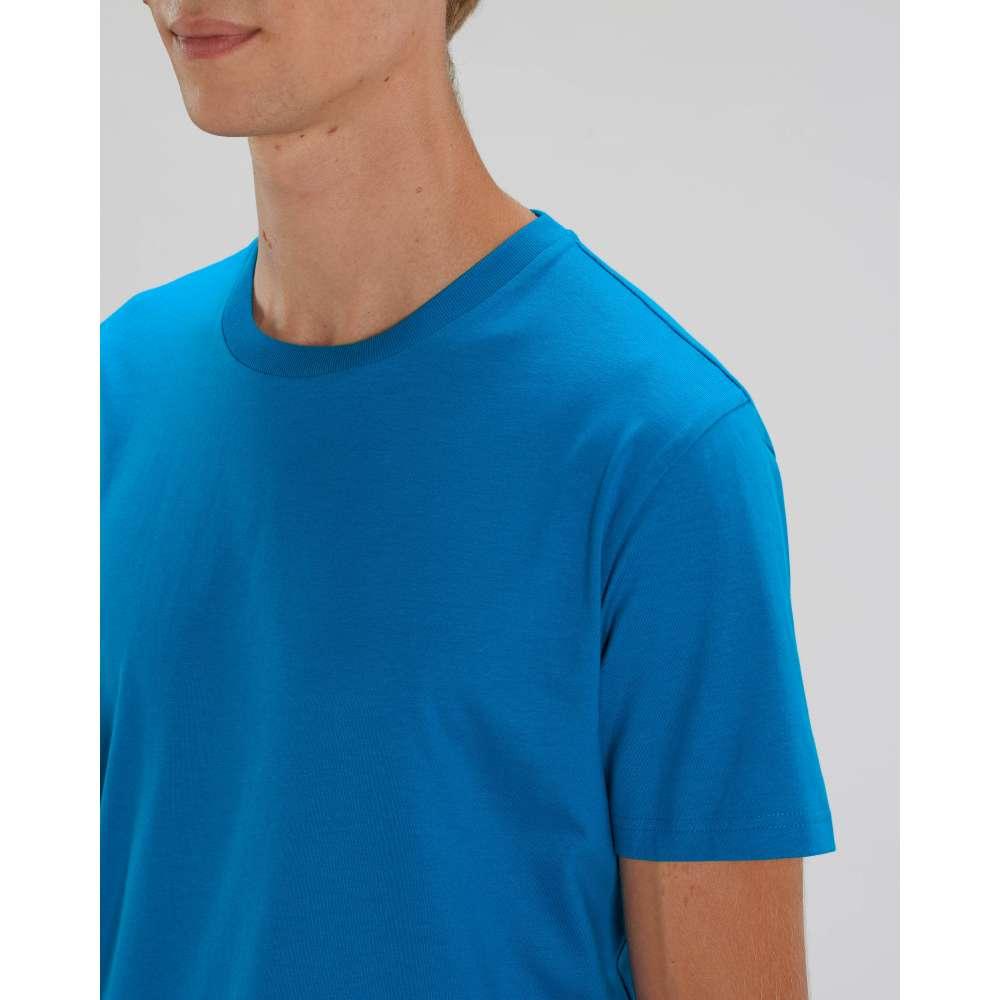 Мъжка тениска от 100% органичен памук в син цвят