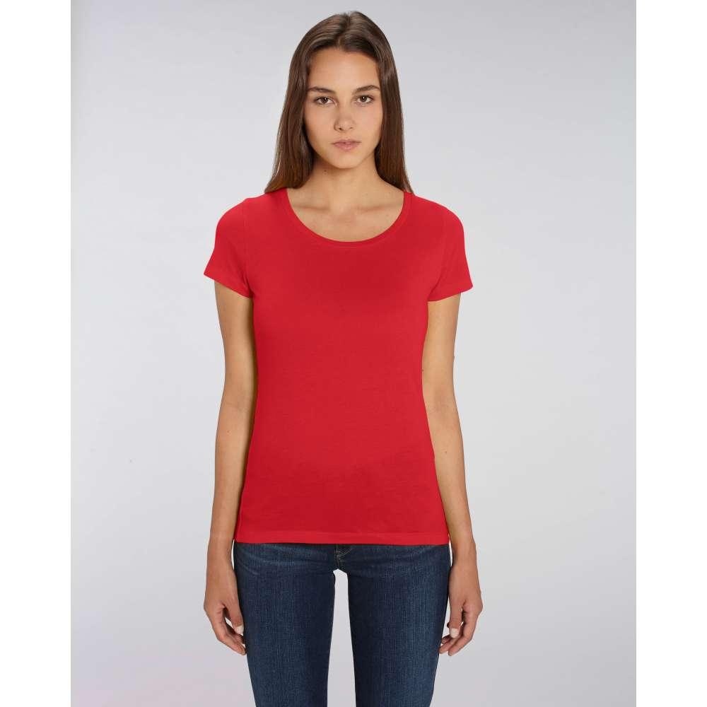 b3612984888 Дамска тениска от 100% органичен памук в червен цвят - STTW017-RED ...