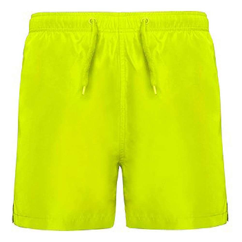 Къси панталони за плуване и спорт в жълт неон