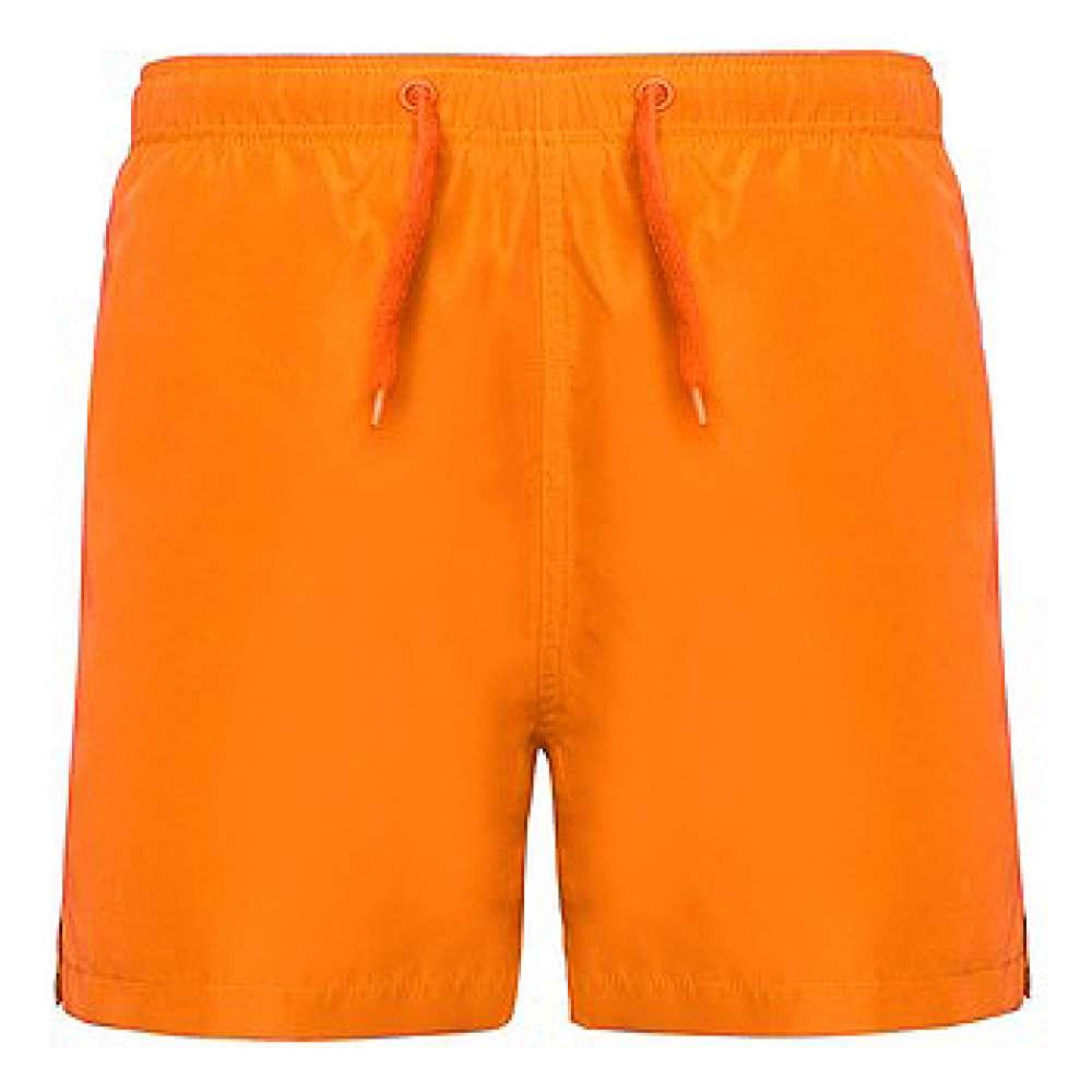 Къси панталони за плуване и спорт в оранжево