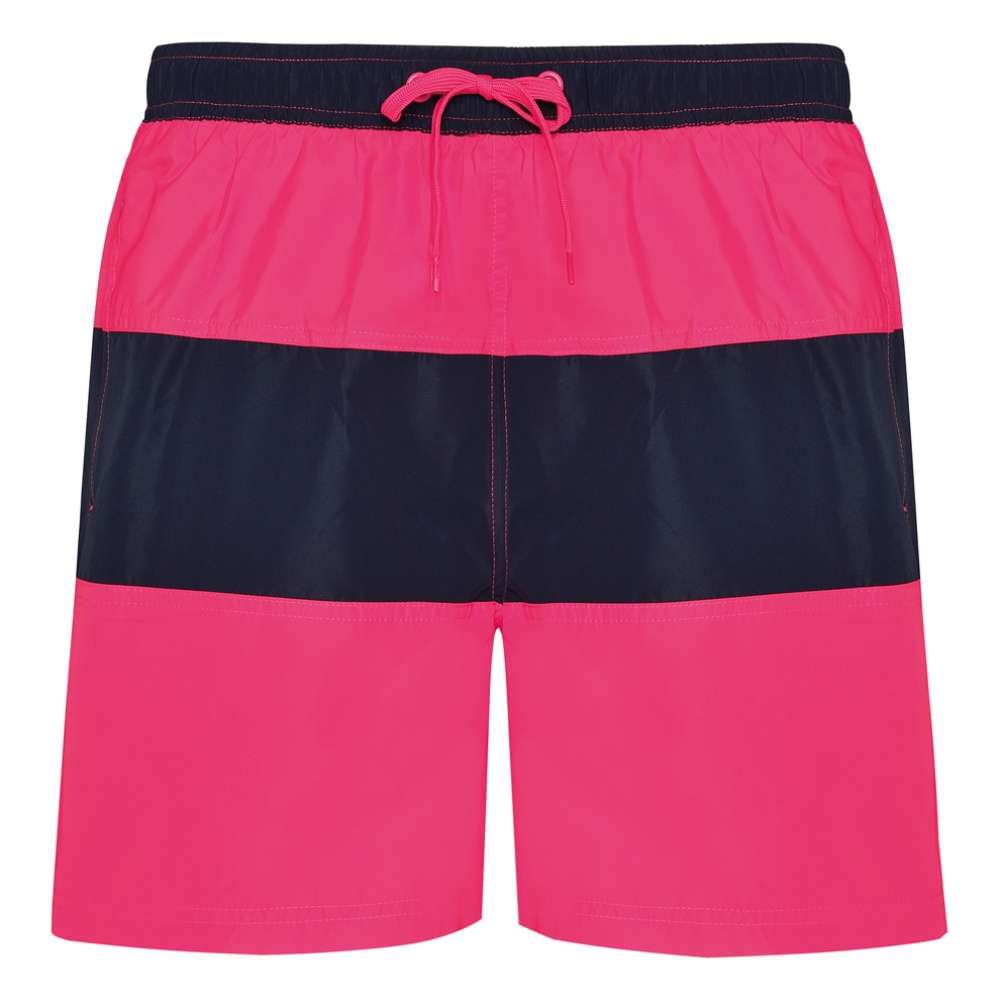 Къси панталони за плуване и спорт в розово и тъмно-синьо