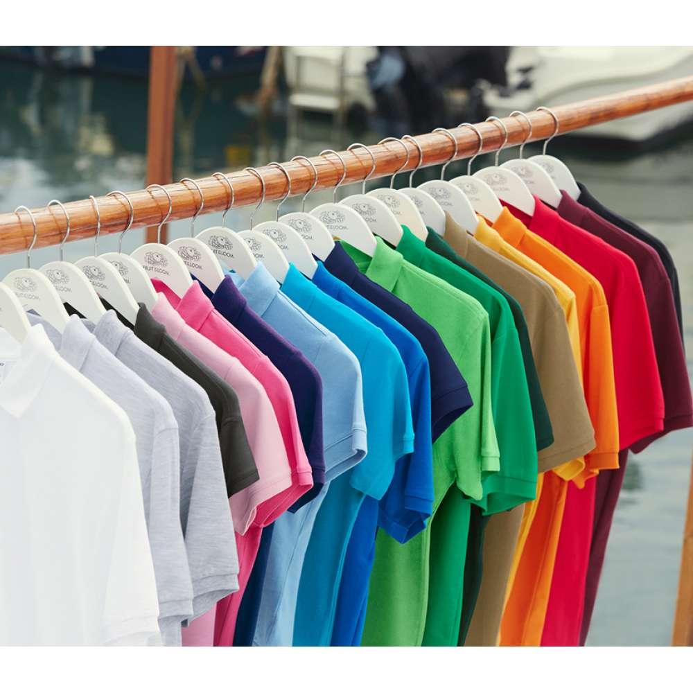 Мъжка поло тениска от 100% памук в оранжев цвят