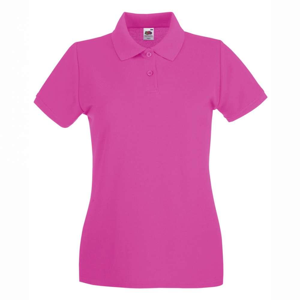 Дамска риза поло пике от 100% памук в розово