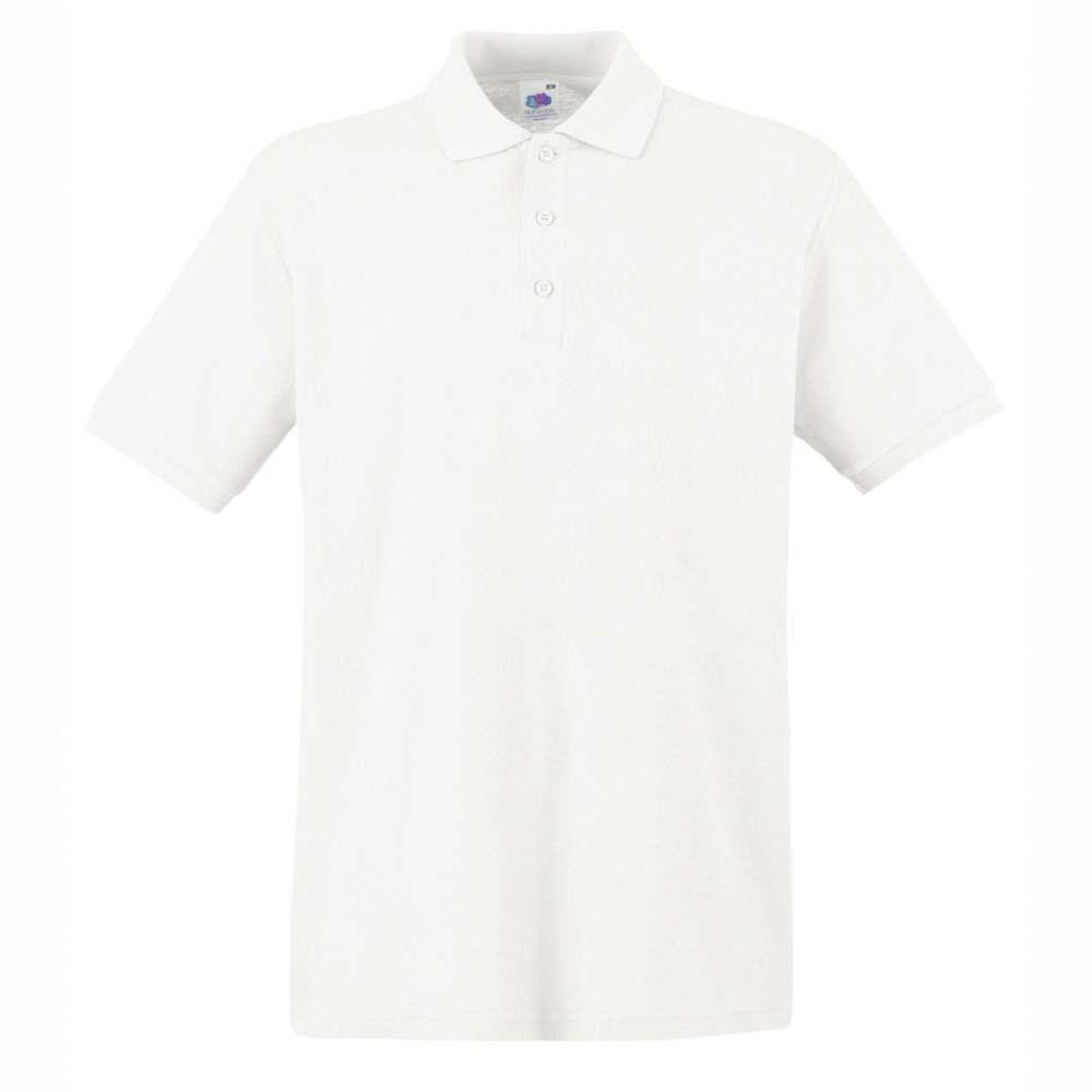 Мъжка поло тениска от 100% памук в бяло