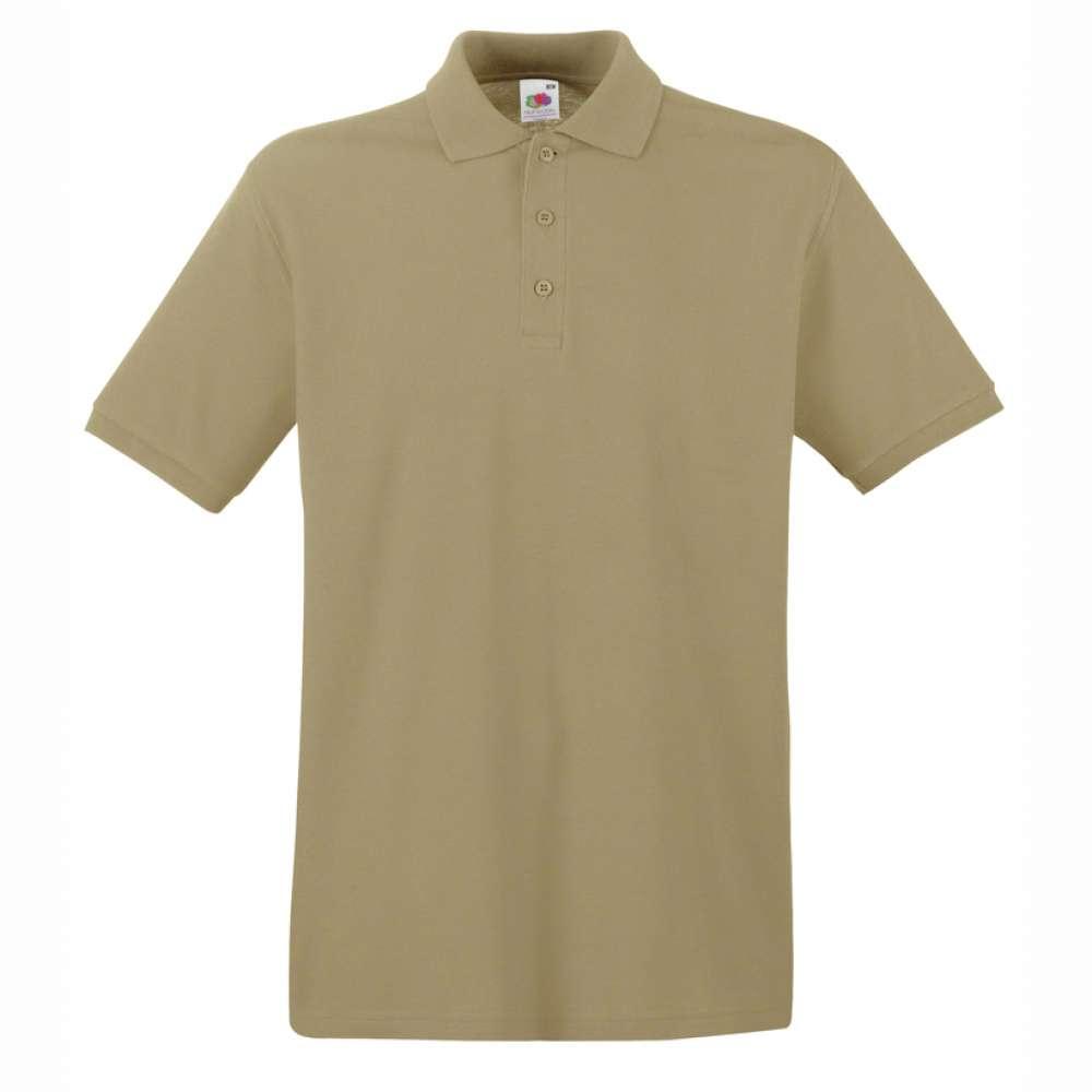 Мъжка поло тениска от 100% памук в цвят каки