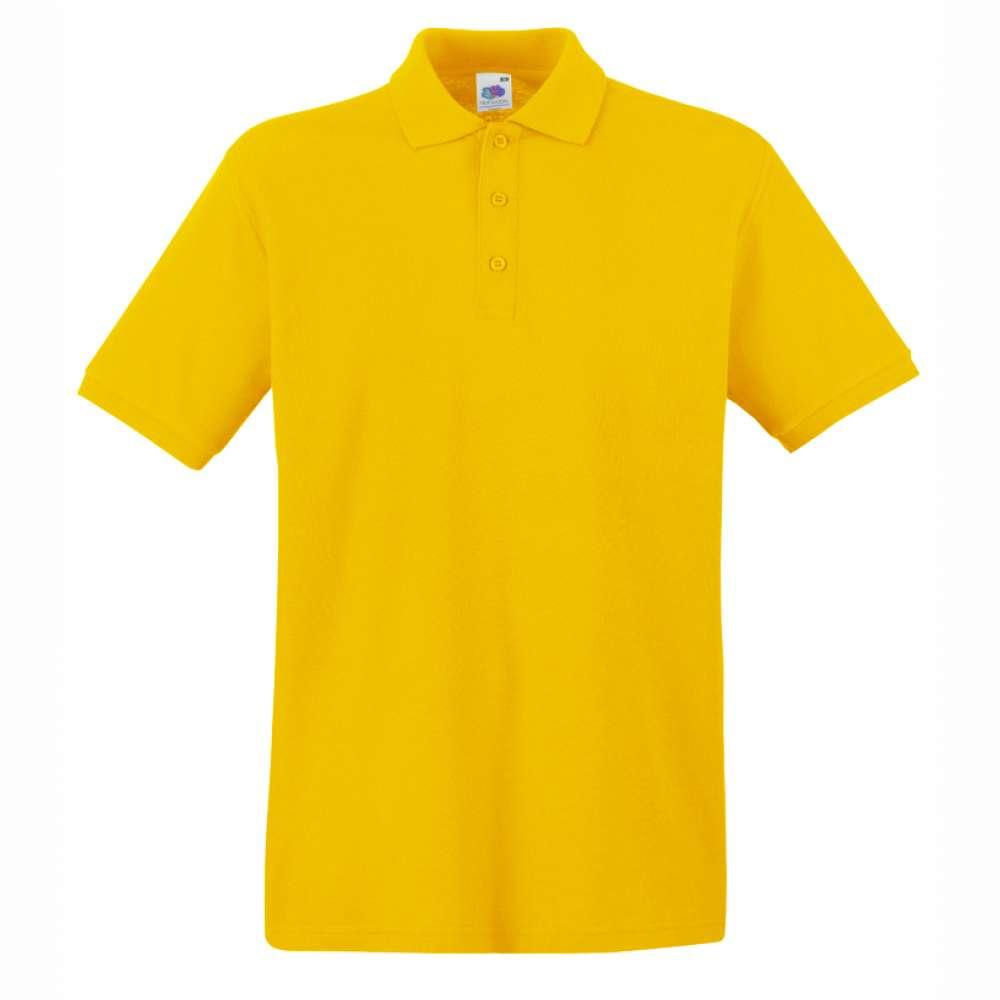 Мъжка поло тениска от 100% памук в жълто