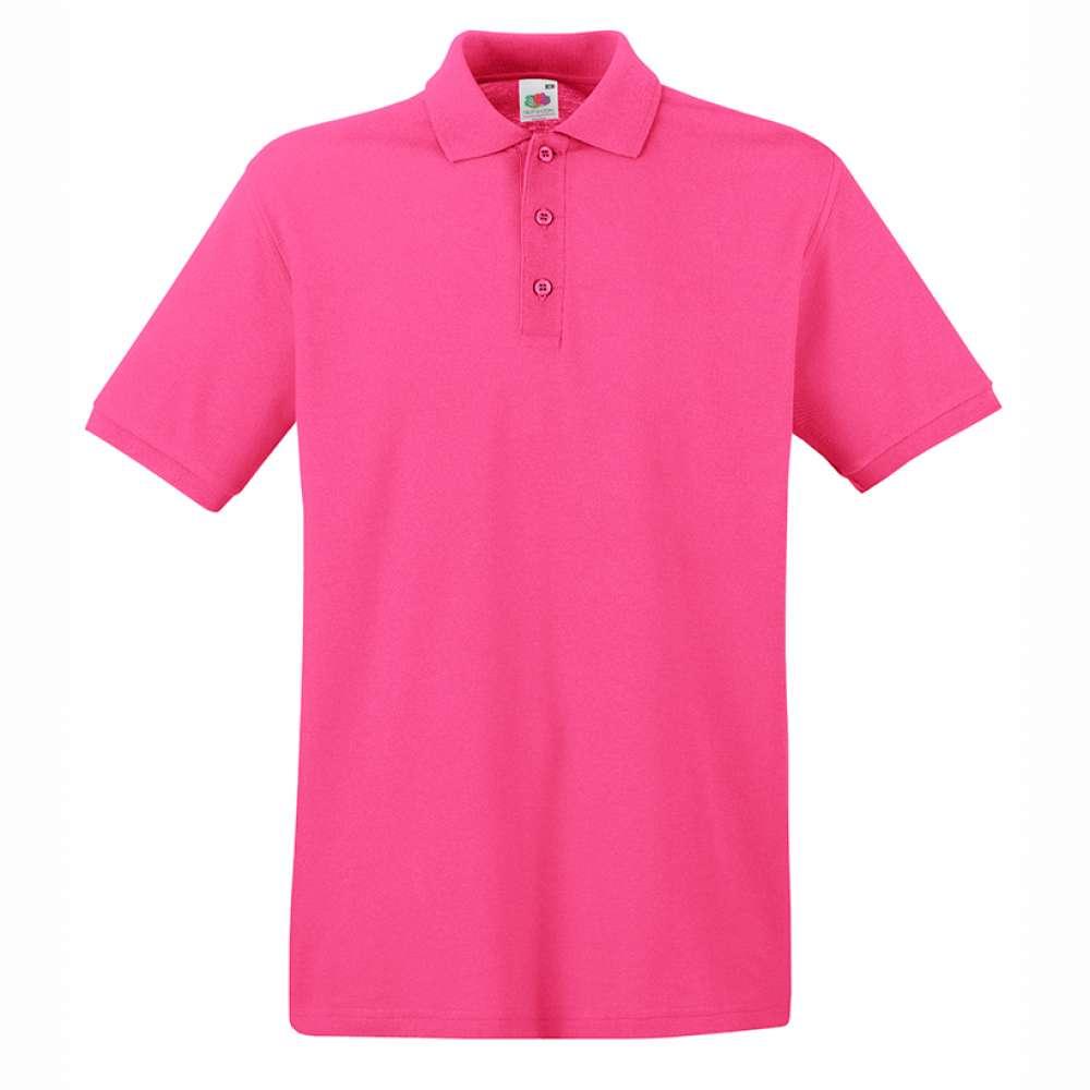 Мъжка поло тениска от 100% памук в розово