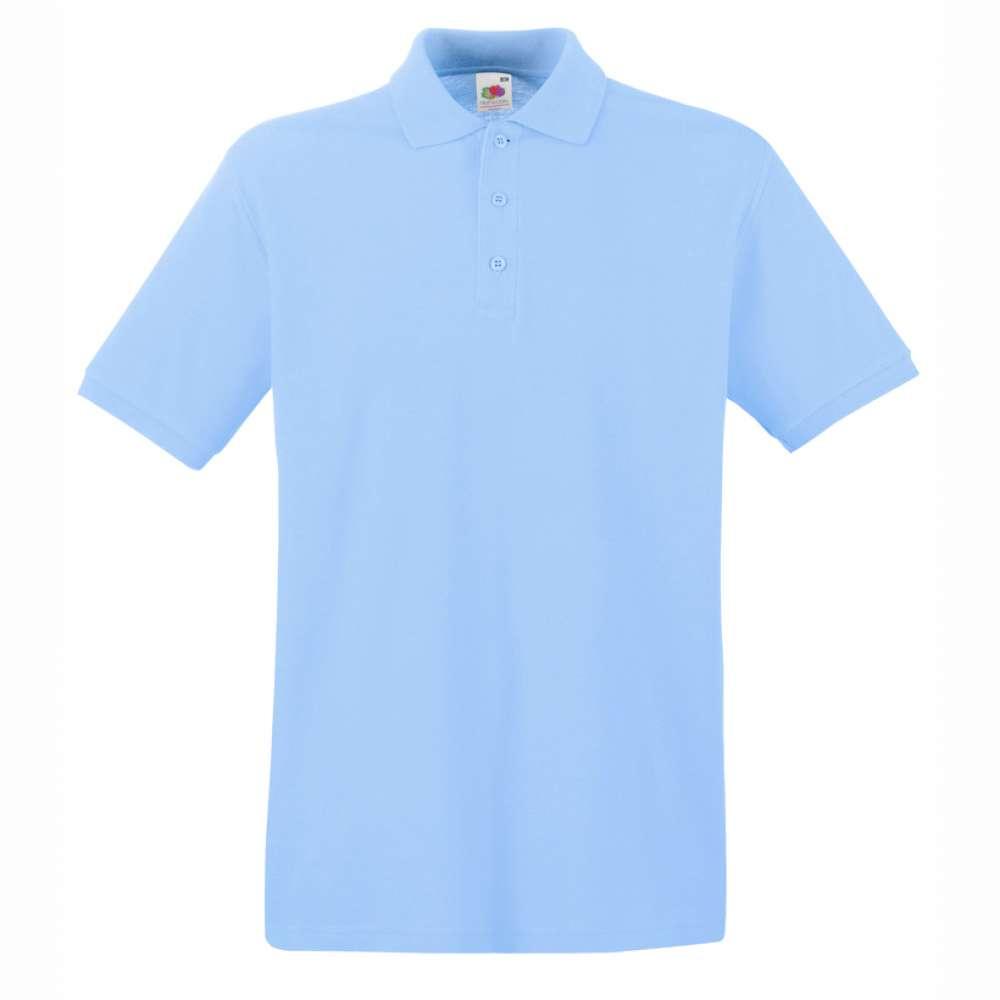 Мъжка поло тениска от 100% памук в светло-синьо