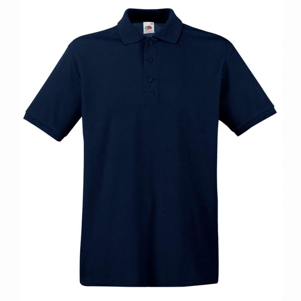 Мъжка поло тениска от 100% памук в тъмно-синьо