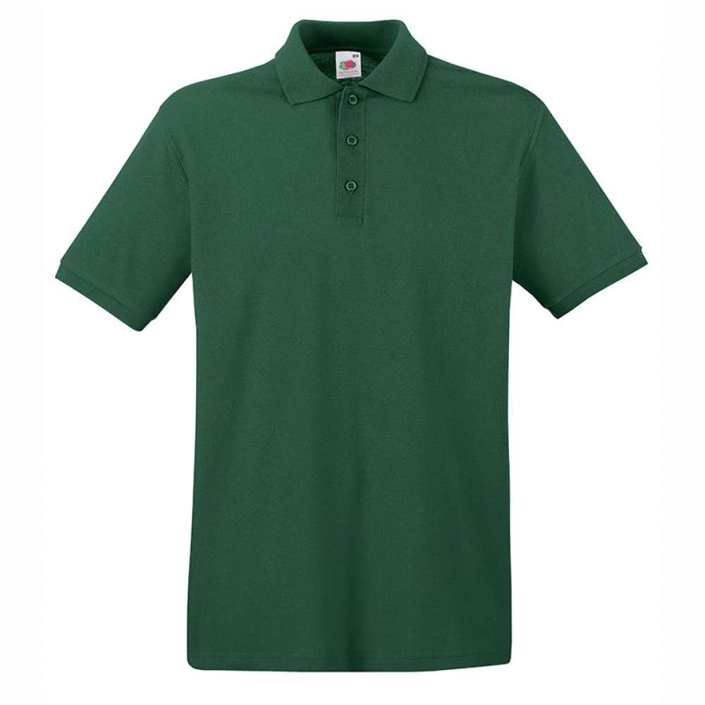 Мъжка поло тениска от 100% памук в тъмно зелено