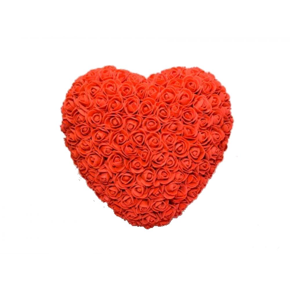 Ръчно-изработено Сърце от рози