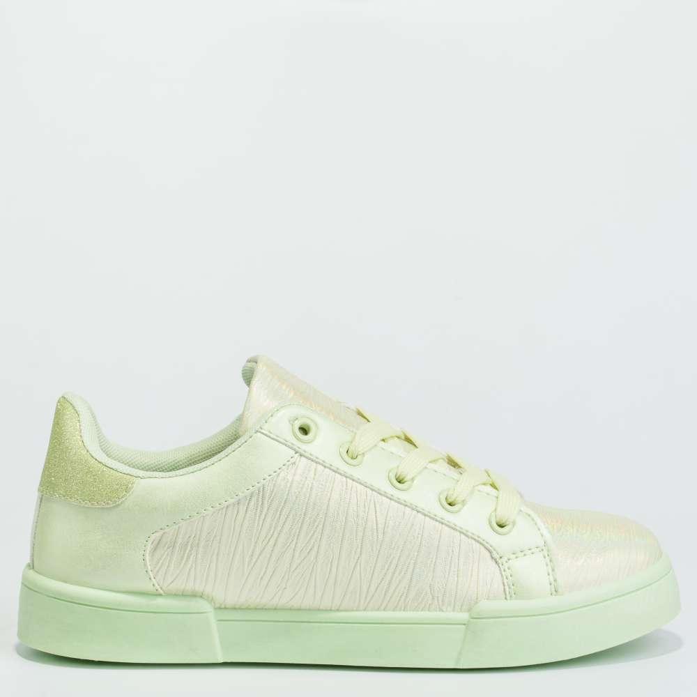 Дамски кецове в бледо-зелен цвят