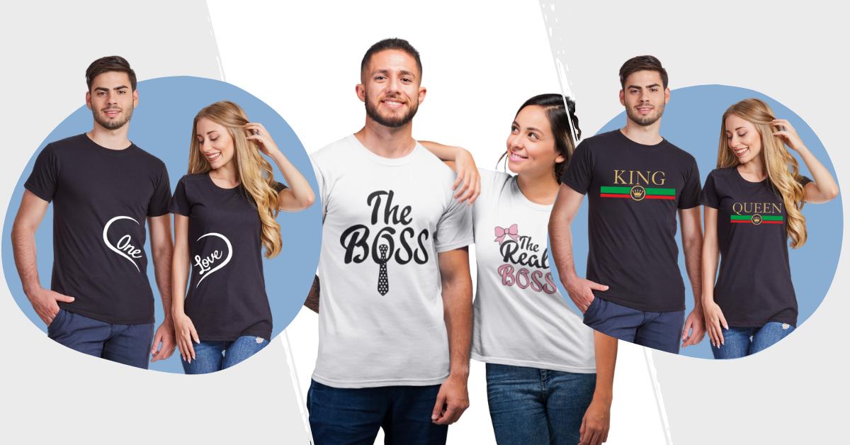 Тениски за двойки - The boss, The real boss - King Queen